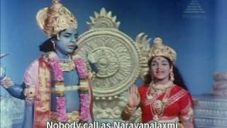 Vishnu tries to kill Lakshmi