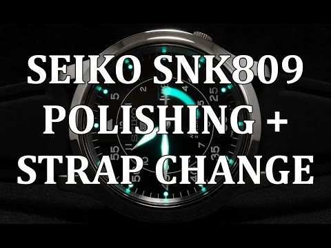 Seiko SNK809 Mini Review + Polishing Case How To and Strap Change