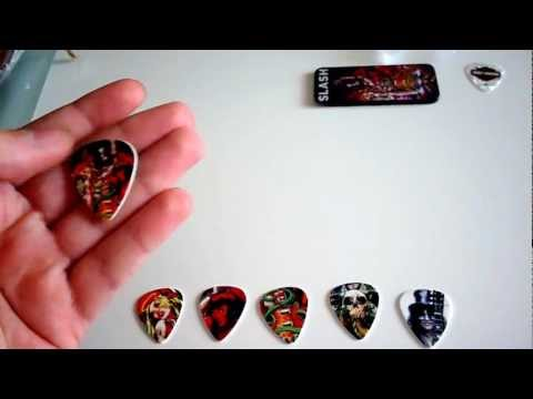 Slash Limited Edition Guitar Picks Unboxing + Possible GIVEAWAY