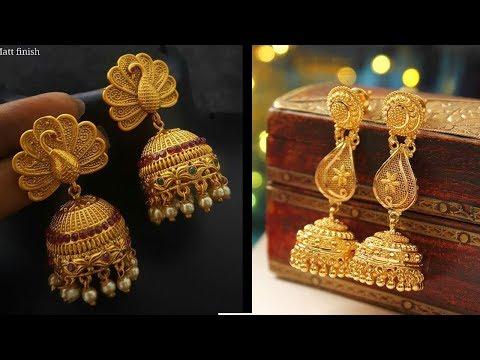 Latest Joyalukkas Gold Earrings Mela Collections - She Fashion
