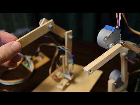 Small 4 Axis Stepper Robot Arm