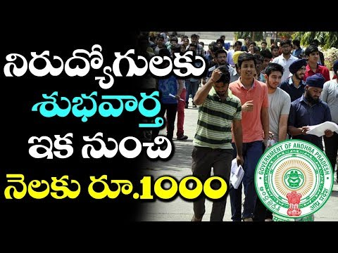 WOW! Government to Give 1000 Rupees for Unemployed | Latest Government Updates | VTube Telugu