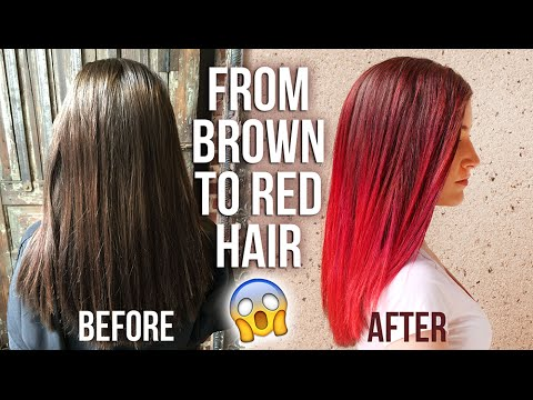 MY HAIR COLOR TRANSFORMATION: BRUNETTE TO RED (+ undercut!) || KELLI MARISSA