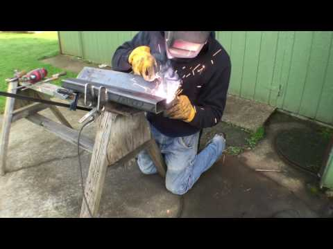 Building a backhoe bucket part 1