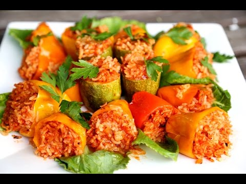 Rice Stuffed Bell Peppers Recipe - Heghineh Cooking Show