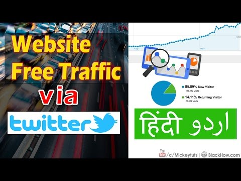 How to Use Twitter for Getting Free Website Traffic   Urdu/Hindi Tutorial