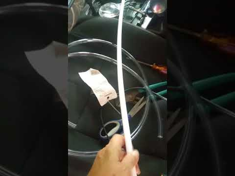 Crappy OEM Blue Tubing Sunroof Drain Hose Replacement w/Vinyl Tubing 2002 WJ Jeep Grand Cherokee