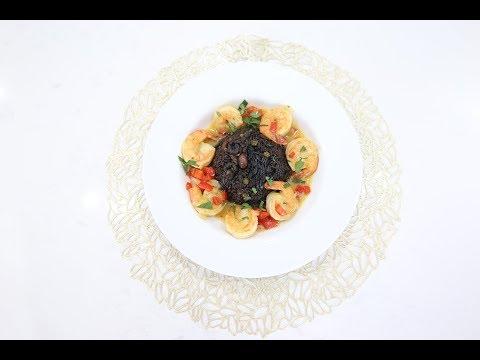 Black Rice W/Shrimp : Haitian Diri Ak Djon Djon et  Kribich Gros Sel
