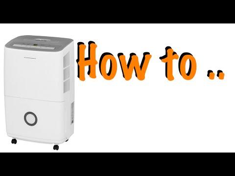 How to empty a Dehumidifier