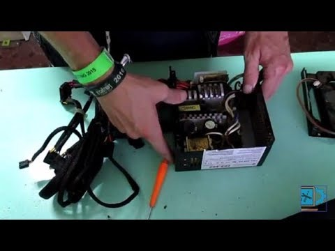 Inside Thermaltake TR2-500 500W PSU  - Disassembly for maintenance/ dust clean