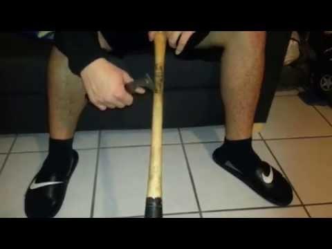 How I Scrape Off Old Pine Tar Stick