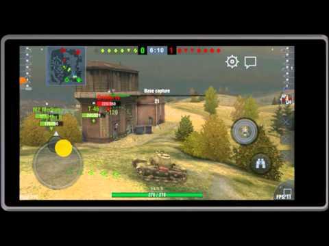 World of Tanks Blitz Lumia 640 Game Play