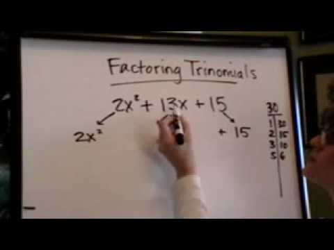 factoring trinomials with