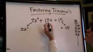 Factoring Trinomials With A Greater Than 1