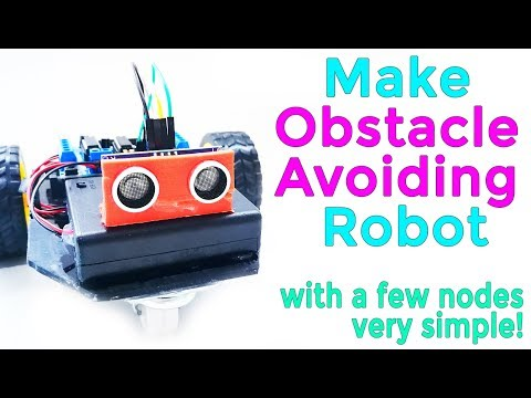 07# Arduino Visual Programming | Make Obstacle Avoiding Robot with a few nodes