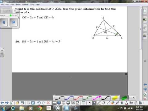 Medians, Centroids, Altitudes & Area of a triangle
