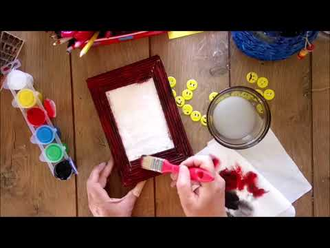 How to transform a box wrapping into a photo frame tutorial