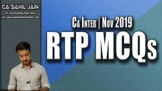 CA Inter RTP MCQs | Nov 2019 | CA Sahil Jain
