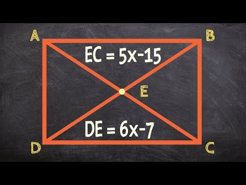 How to find the missing value using the diagonals of a rectangle