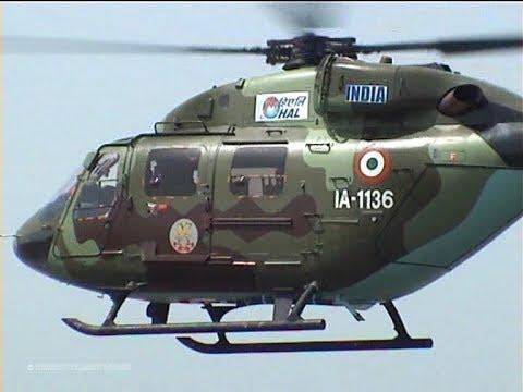 Rare Display Indian Army HAL Dhruv - Light Attack & Utility Helicopter of Hindustan Aeronautics Ltd.