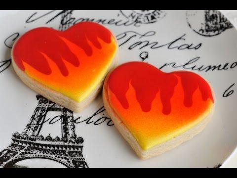 HEART ON FIRE COOKIES, HANIELA'S