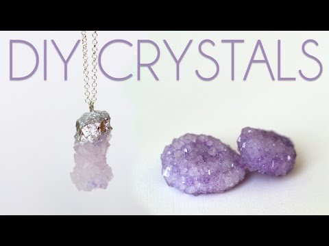 How to Grow Crystals - DIY Crystal Necklaces
