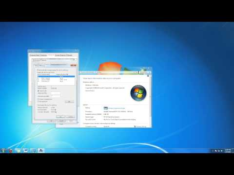 How to Change Virtual Memory in Windows 7 Tutorial