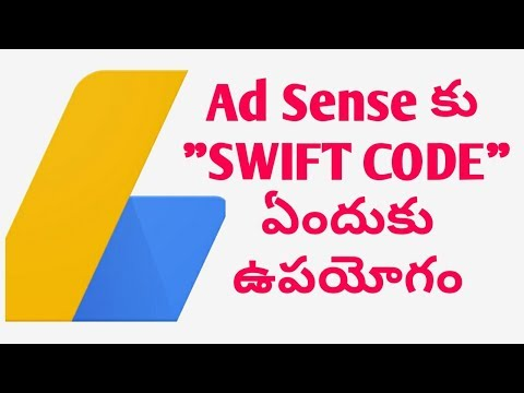 How to erning Adsense Account Swift code All bank