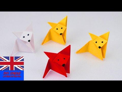 How to make an ORIGAMI FOX | Super easy & super cute | Paper ideas