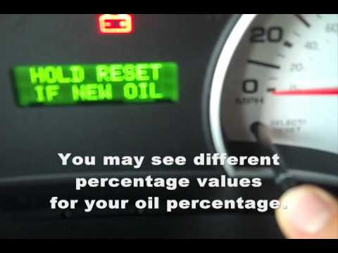 2007 Sport Trac - Oil Reset (How To)