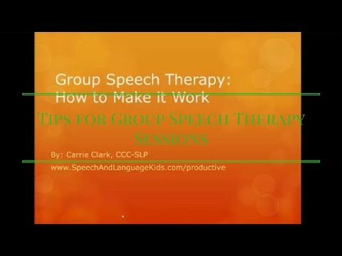 Tips for Group Speech Therapy Sessions