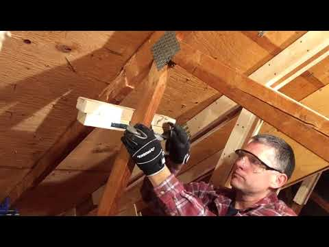 Attic Truss Repair 04: Jigs & tricks to position new wood