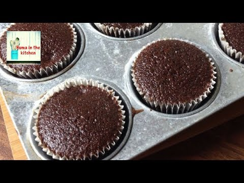 Chocolate Cupcakes without Oven and Egg less Tea Time by (HUMA IN THE KITCHEN)