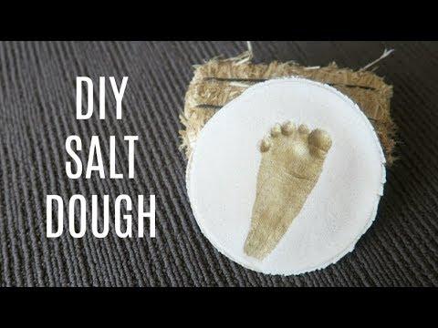 DIY SALT DOUGH RECIPE | EASY DIY BABY HAND AND FOOTPRINT