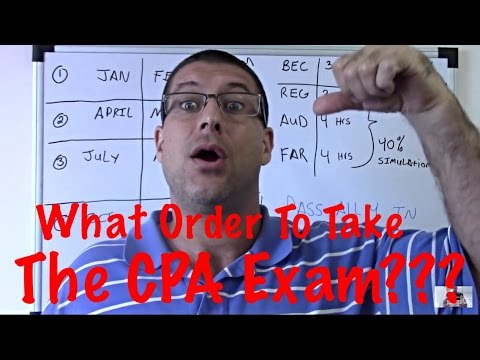 CPA Exam Tips / what order to take the CPA Exam in / FAR / REG  / AUD / BEC