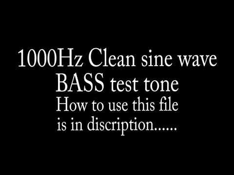 1000hz Test Tone Sine Wave