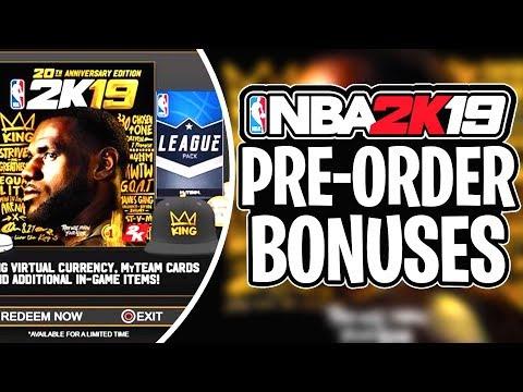 EVERY NBA 2K19 PRE-ORDER BONUS CONFIRMED! NBA 2K19 20th Anniversary Edition + Trailer!