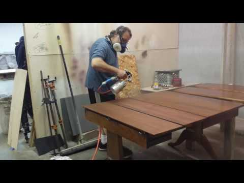 Refinishing a mahogany drop leaf table  from Detroit mi