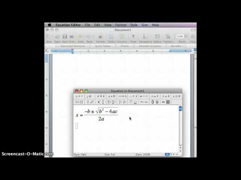 How to enter equations in Microsoft Word for Mac