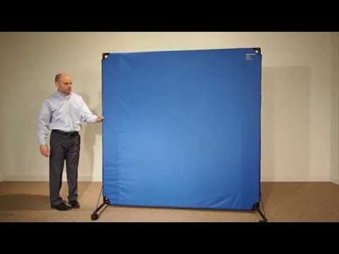 VP6 Portable Rolling Fabric Privacy Screen by Versare