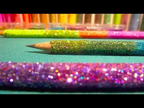 DIY Ombre Glitter Pencils