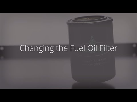Changing the Fuel Oil Filter