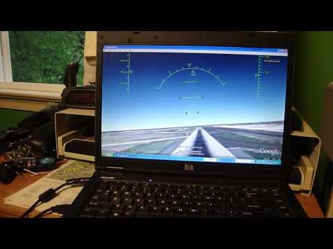 Google Earth Flight Simulator 5 with the Saitek AV8R-01 Flight Stick
