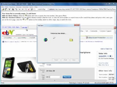 eBay Auction Sniper Software Demonstration - Auction Auto Bidder