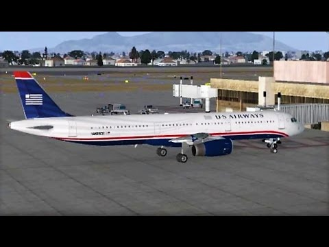 VATSIM Phoenix Departure with ATC | US Airways A321 (FSX)