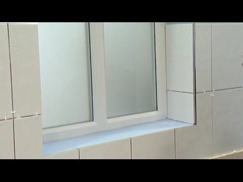 How to tile around window