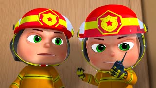 Zool Babies As Fire Fighters   Cartoon Animation For Children   Five Little Babies   Kids Shows