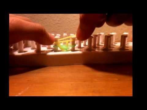 How to make a single chain fun loom bracelet