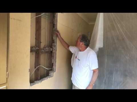 Cutting A Doorway in Brick Wall