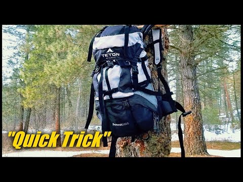 How To Hang Your Pack When Backpacking -